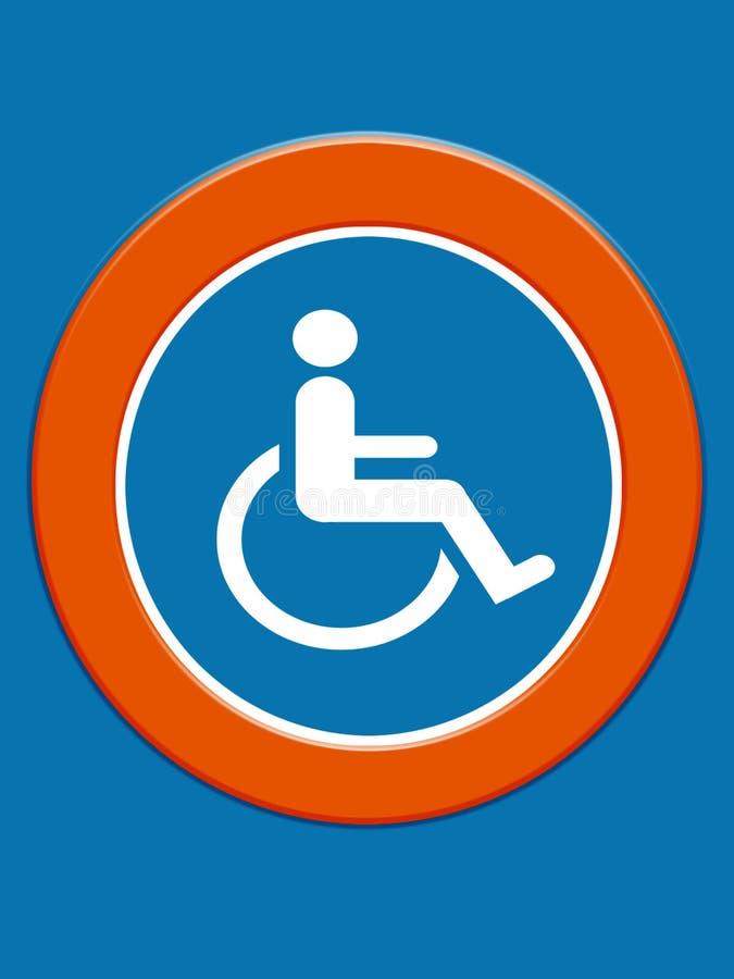 symbol niepełnosprawnych royalty ilustracja