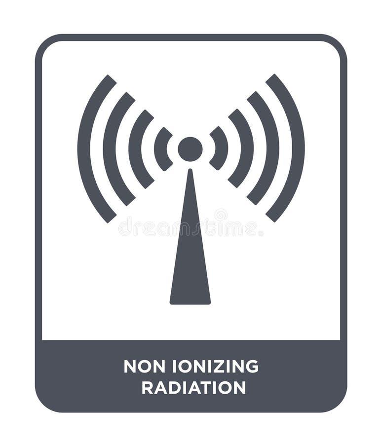 symbol non för joniseringsutstrålning i moderiktig designstil symbol non för joniseringsutstrålning som isoleras på vit bakgrund  stock illustrationer