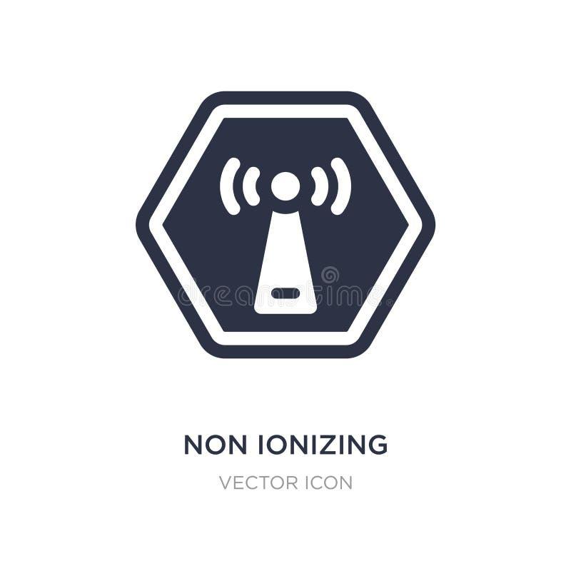 symbol non för joniseringsutstrålning på vit bakgrund Enkel beståndsdelillustration från vård- och medicinskt begrepp stock illustrationer