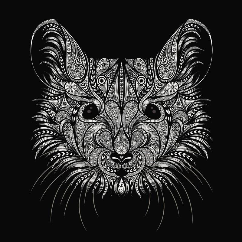 Symbol nowy rok 2020 Wektorowi szczurów wzory na czarnym tle royalty ilustracja
