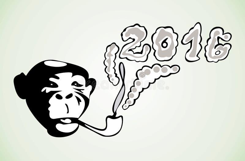 Symbol nowy rok z a i tubką ilustracja wektor