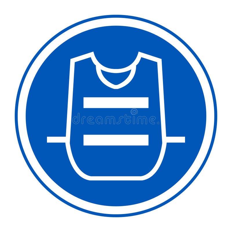 Symbol odzieży kamizelka Odizolowywa Na Białym tle, Wektorowa ilustracja EPS 10 ilustracja wektor