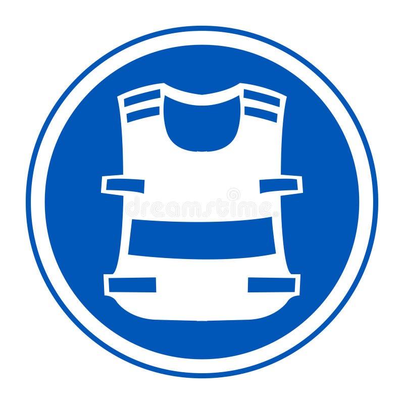 Symbol odzieży kamizelka Odizolowywa Na Białym tle, Wektorowa ilustracja EPS 10 royalty ilustracja