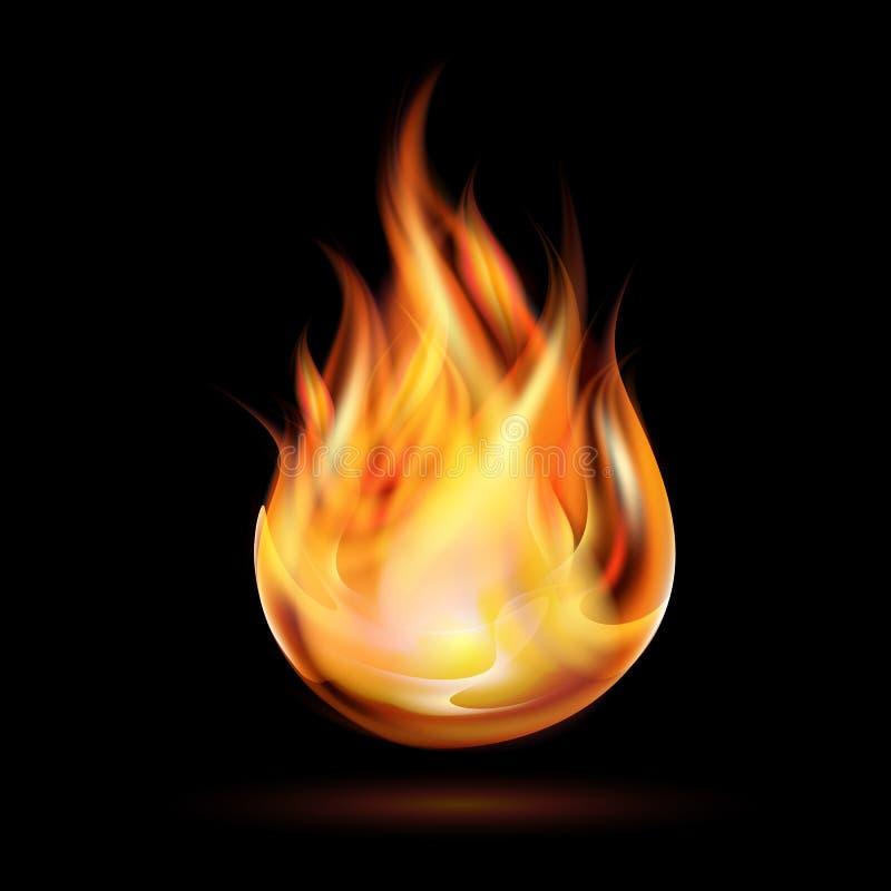 Symbol ogień royalty ilustracja