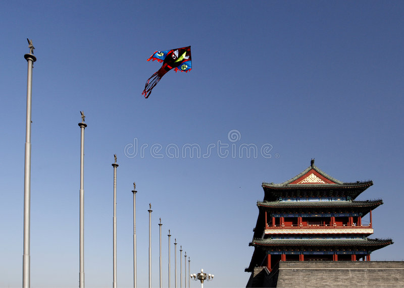 Symbol in old Beijing. Qianmen. royalty free stock images