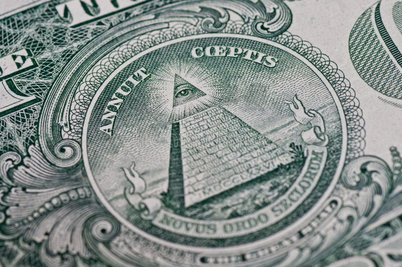 Download Symbol On One Dollar stock photo. Image of lucre, rosicrucian - 19131258