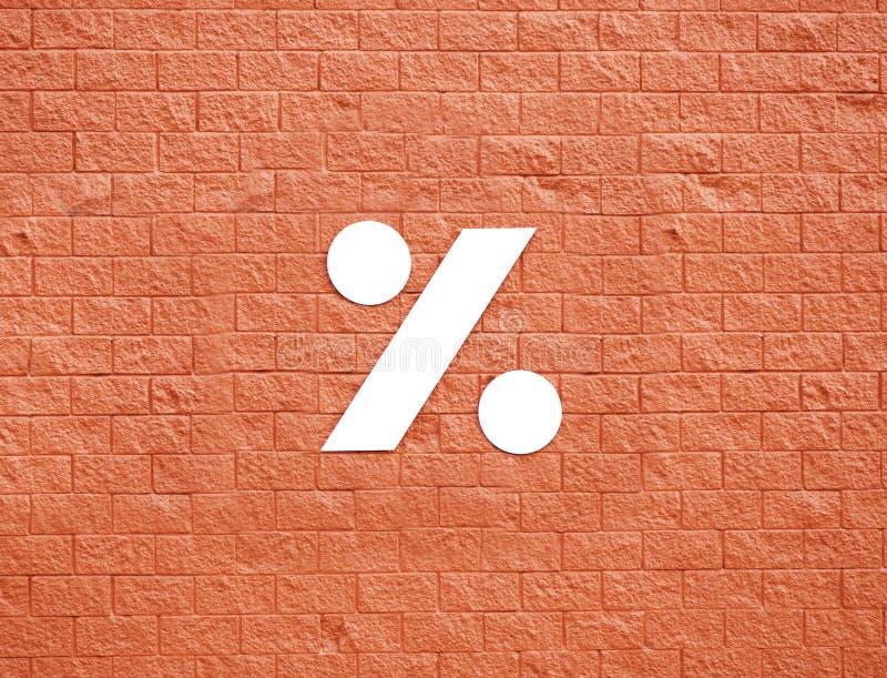 Symbol På Den Röda Väggen Royaltyfri Bild