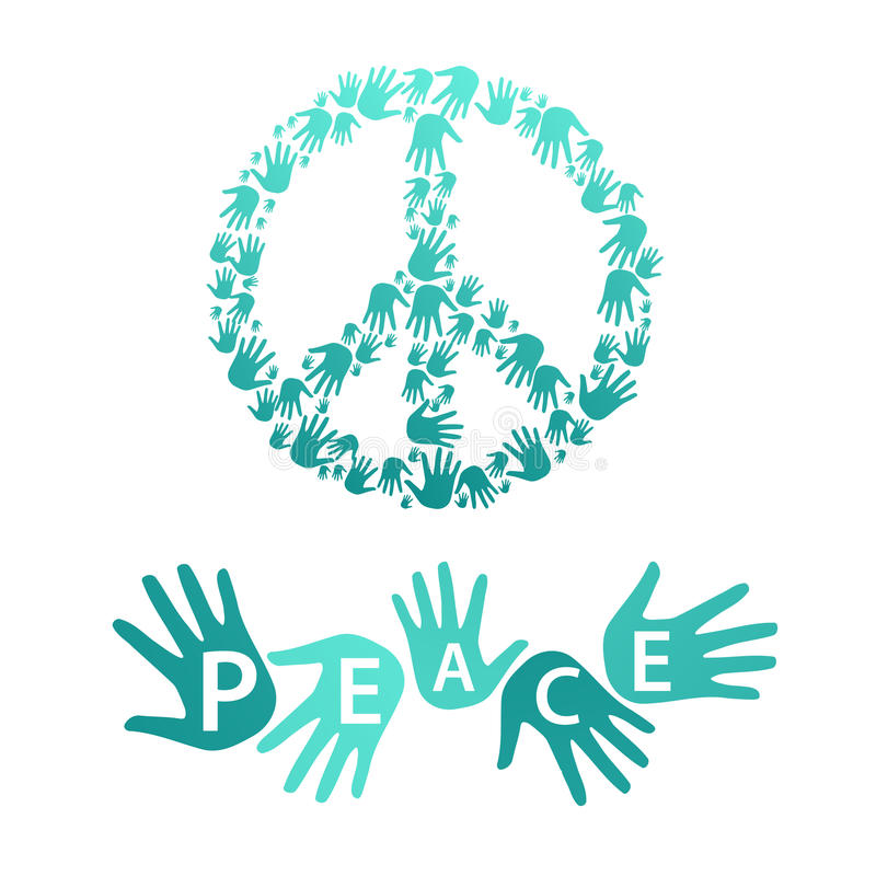 Symbol pacyfizm i pokój ilustracji