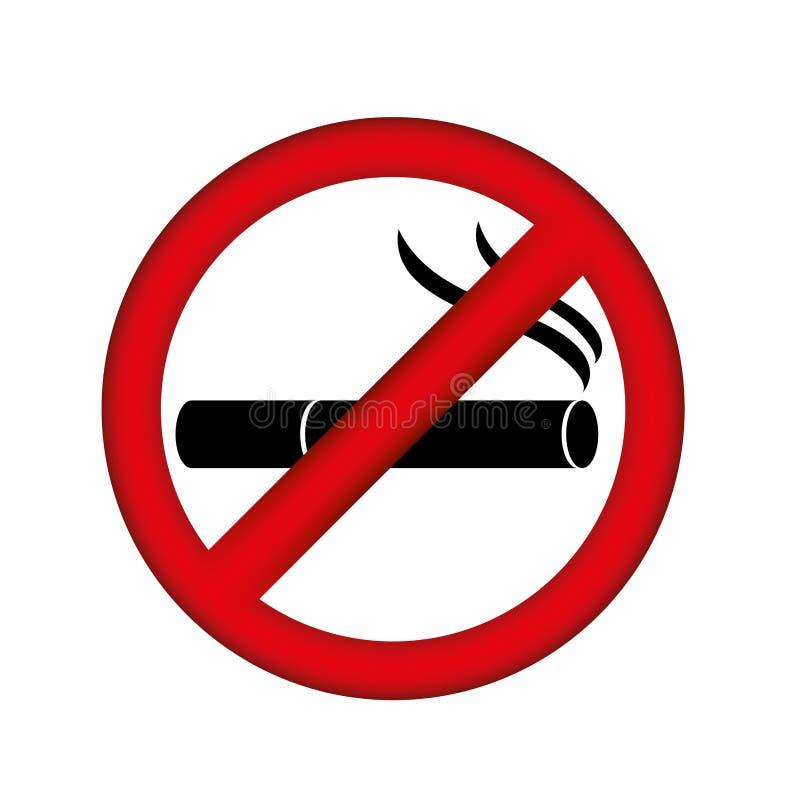 symbol palenie zabronione ikona ilustracja wektor