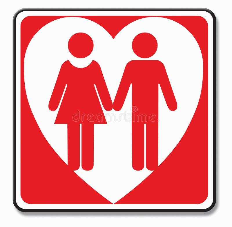 Symbol Parę Miłości Obraz Stock
