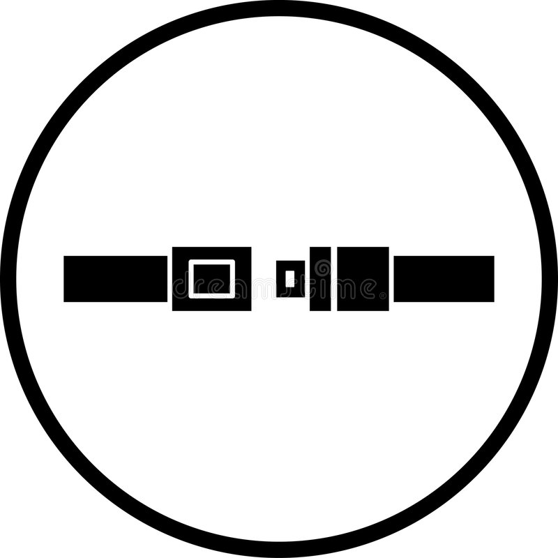 symbol pasa siedzenia ilustracji
