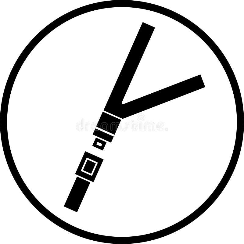 symbol pasa siedzenia ilustracja wektor