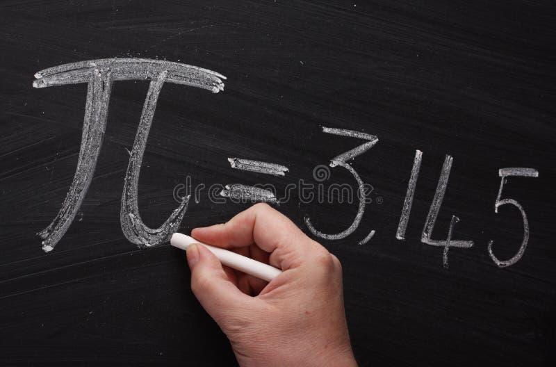 The Symbol For Pi Stock Photo Image Of Blackboard Board 33746036