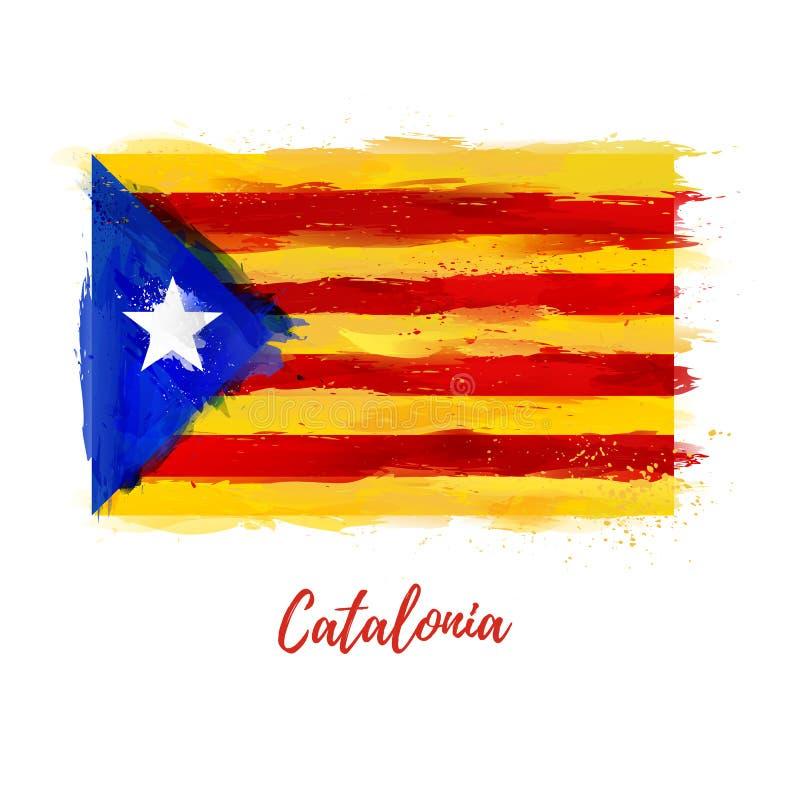 Symbol, Plakat, Fahne Katalonien Markierungsfahne von Katalonien lizenzfreie abbildung