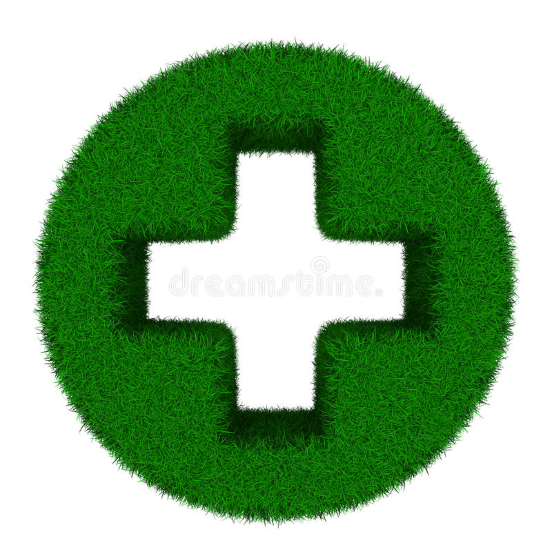 Download Symbol Plus On White Background Stock Illustration - Illustration of cross, green: 32085879