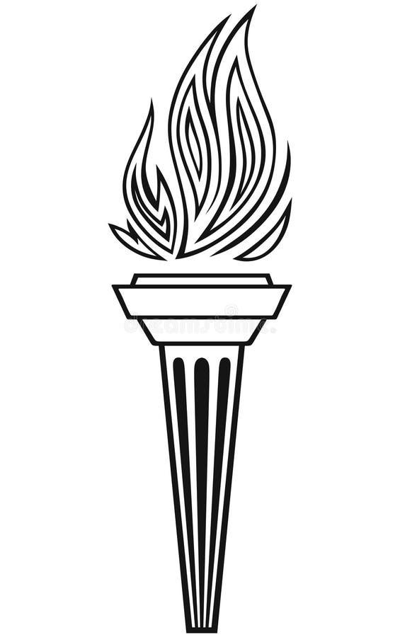 Symbol pochodnia ilustracja wektor