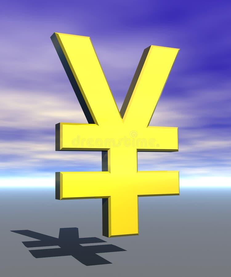 symbol podpisać jenów royalty ilustracja