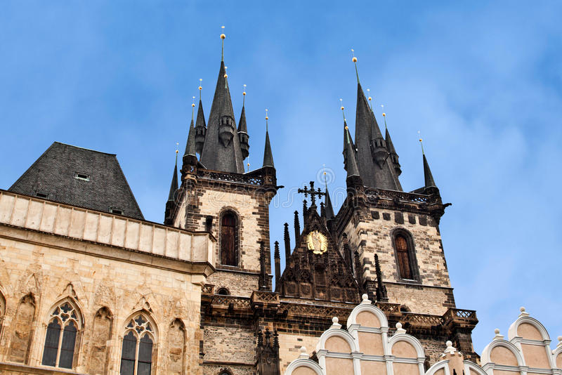 Symbol Of Prague Church Of Our Lady Before Tyn Stock Image Image