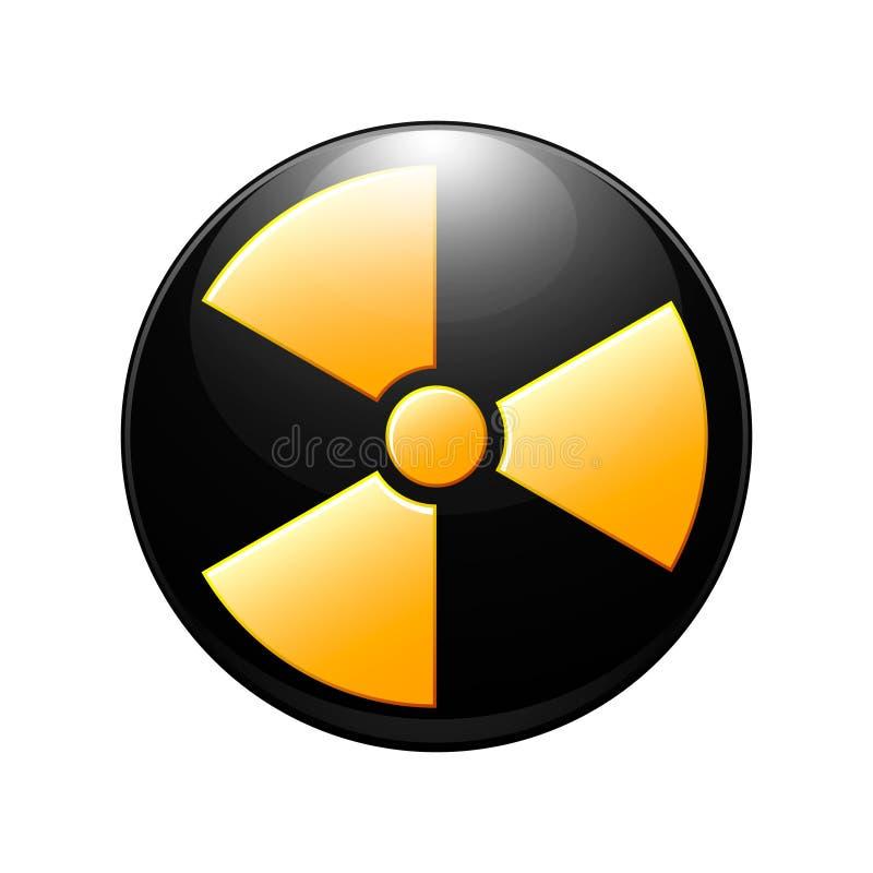 Symbol promieniotwórczy kontaminowanie ilustracja wektor