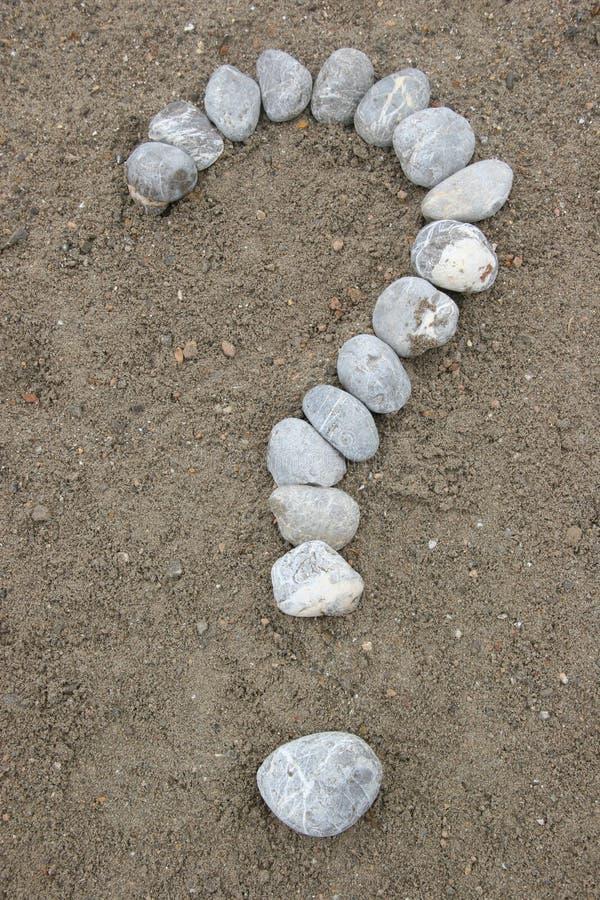 symbol pytań oceny kamienia zdjęcia stock