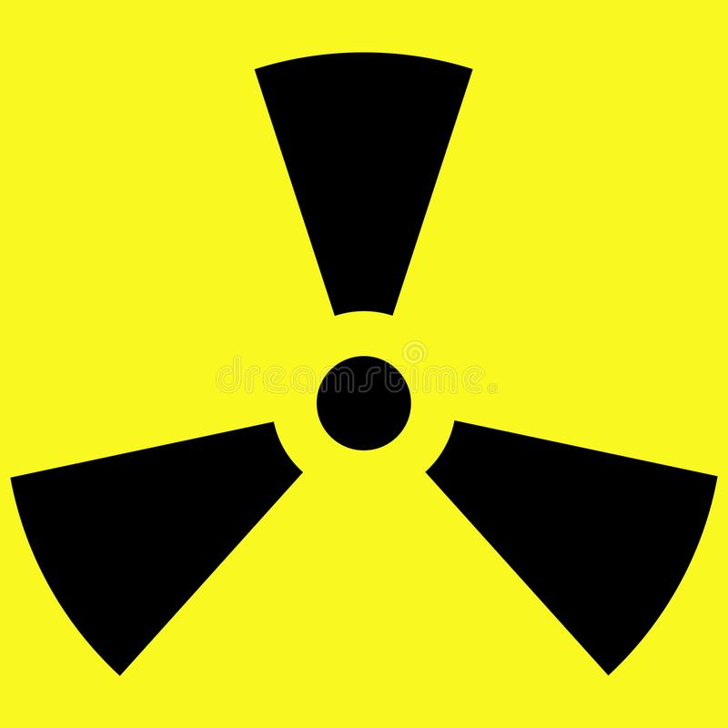 Icon Radioactivity Vector Stock Vector Illustration Of Study