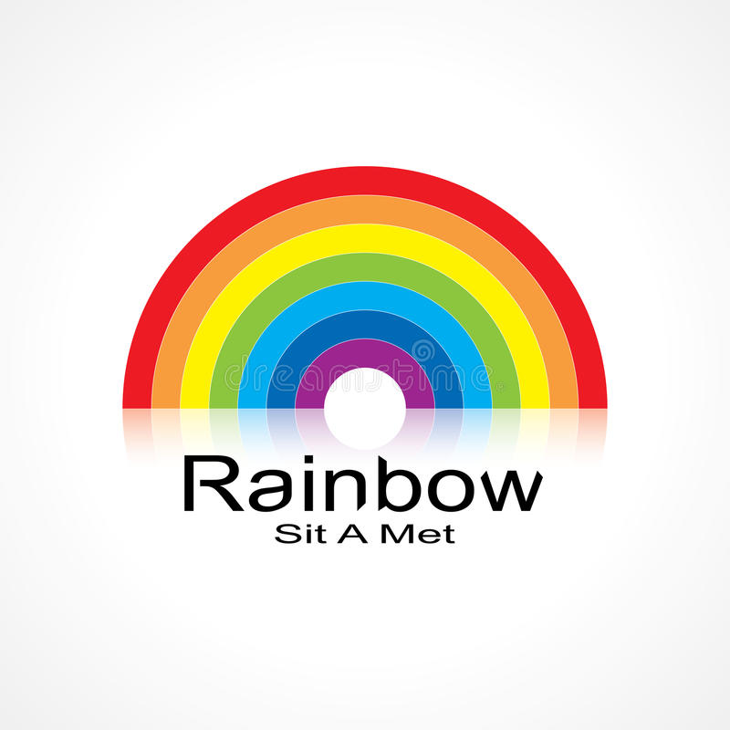 Symbol Rainbow Stock Vector Illustration Of Creativity