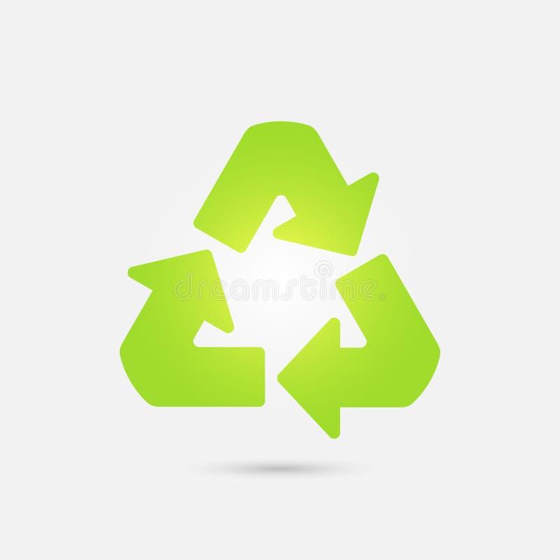 symbol recyklingu przygotowywa ikonę ilustracji