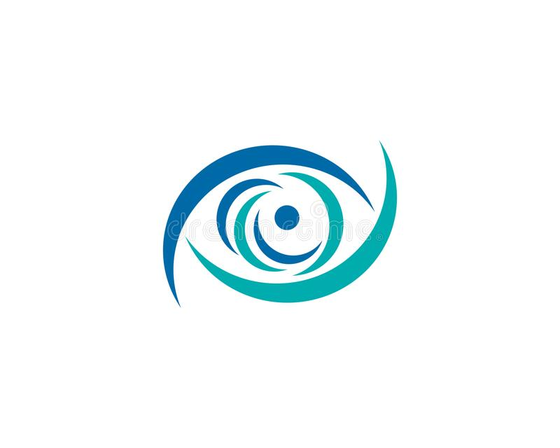 Eye logo. Is a symbol related to health, care, illness, treatment and hospital royalty free illustration