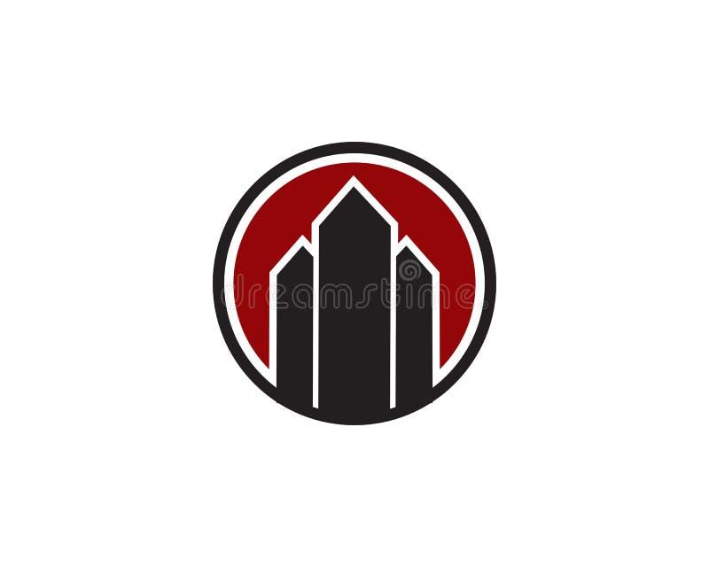 Apartment building logo stock illustration