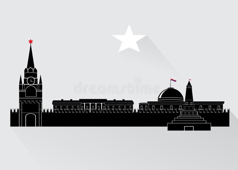 Symbol Ryssland stock illustrationer