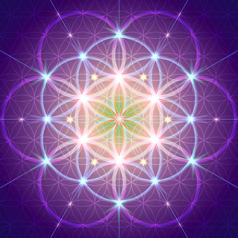 Symbol of Sacred Geometry vector illustration
