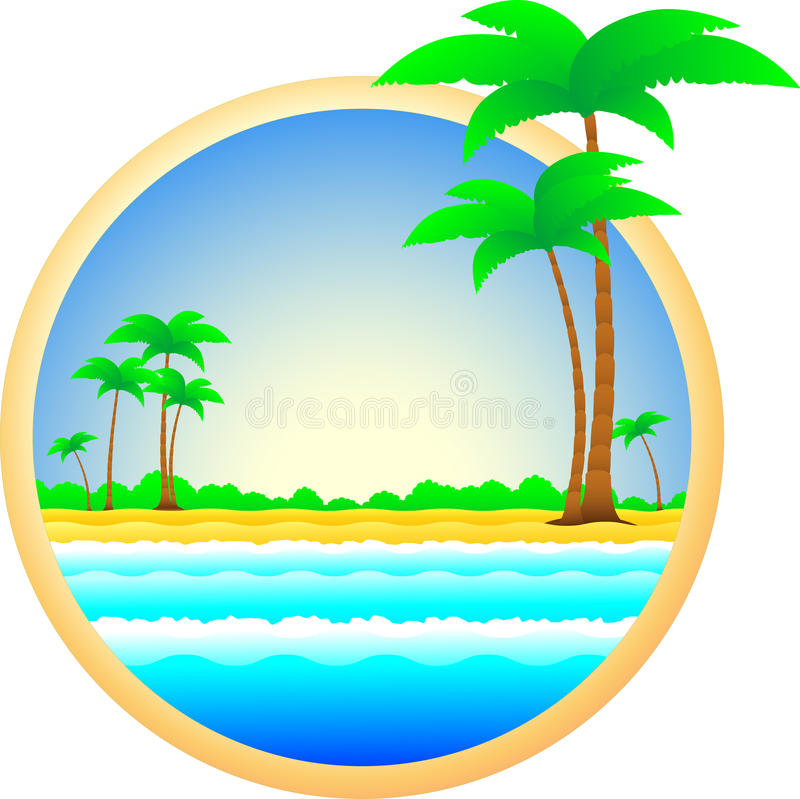 Download Symbol Of Sea Resort Palm Trees And Sand Stock Vector - Image: 24042402