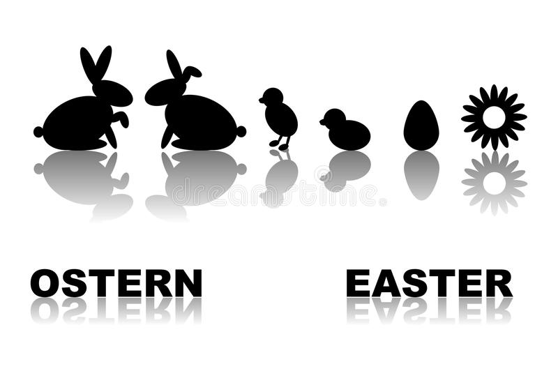 Download Symbol Set Easter stock illustration. Illustration of live - 22977994