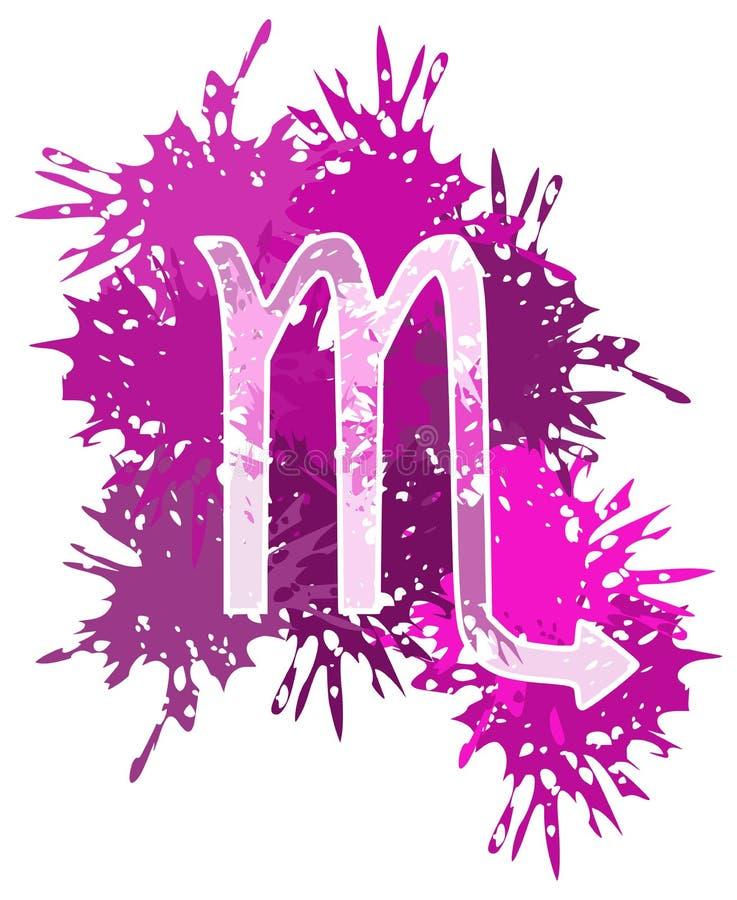 Symbol skorpionu zodiaka znak robić z punktami ilustracji