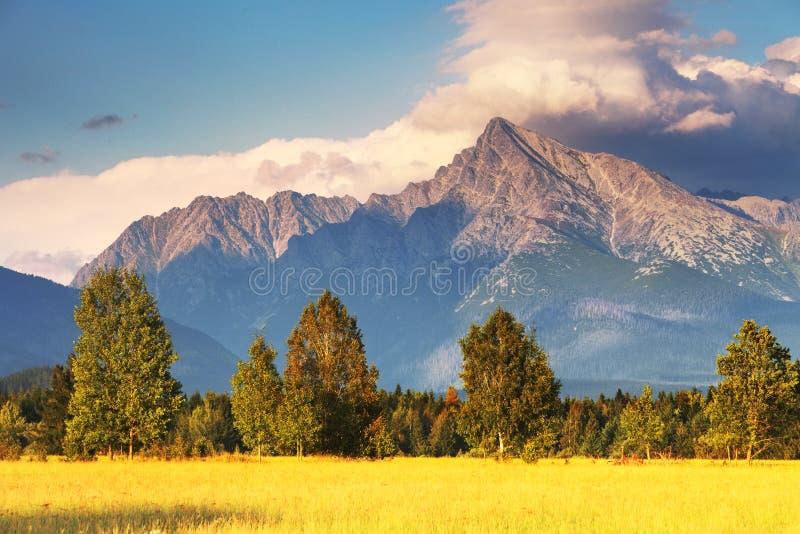 Symbol of Slovakia - Mount Krivan stock photo