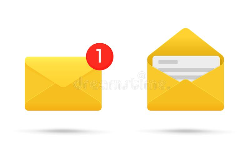 Symbol or SMS notification on electronic devices. Vector illustration vector illustration