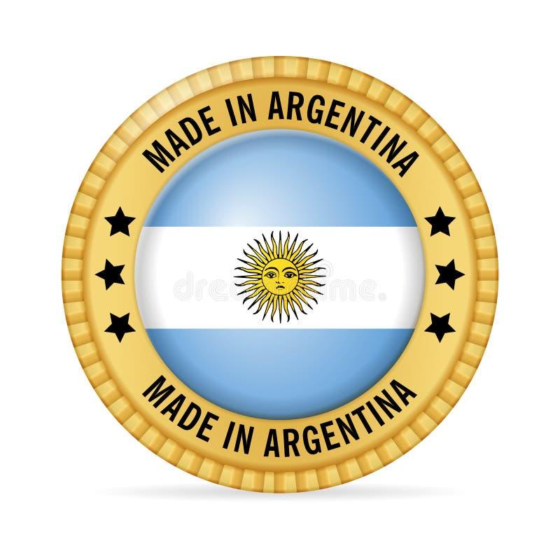 Symbol som göras i Argentina stock illustrationer