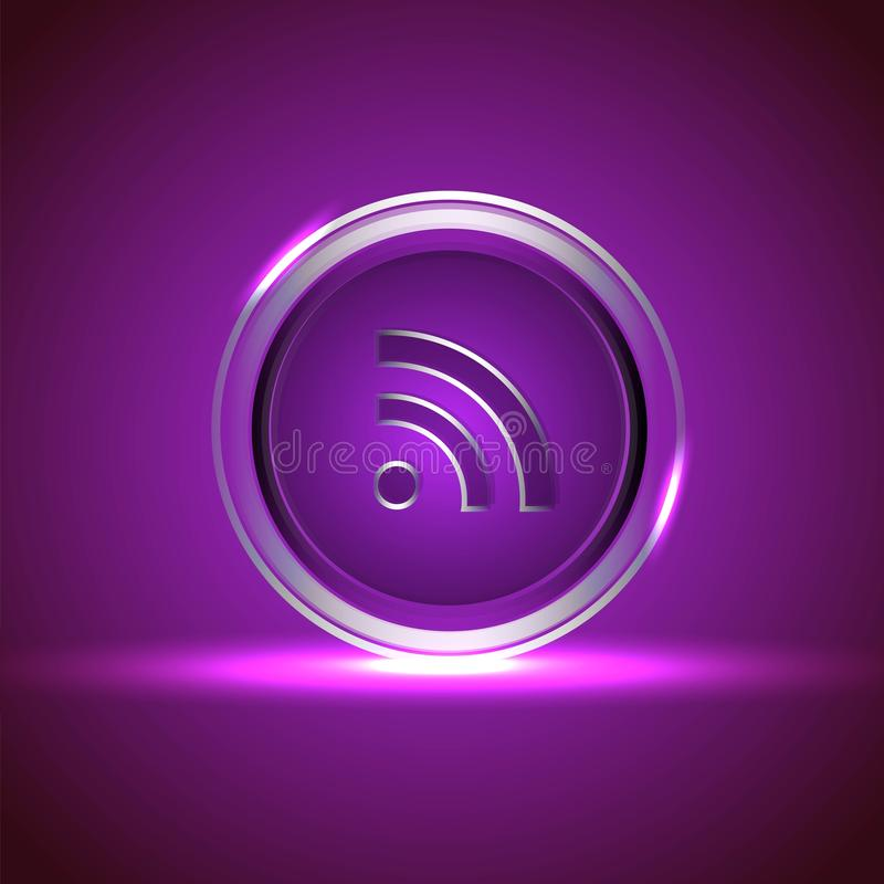 symbol som knyter kontakt den blanka sociala vektorn royaltyfri illustrationer