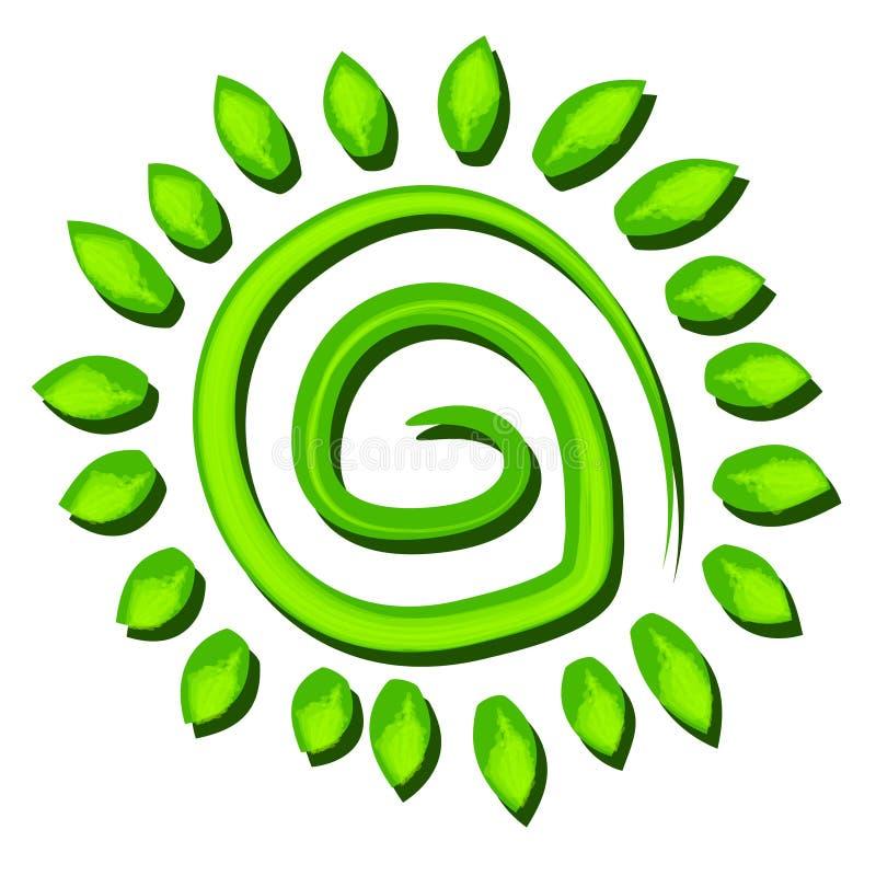 symbol spirali płyty zielone drzewa