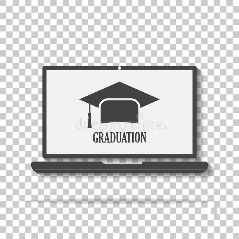 Symbol stopień dla uczyć Wektorowa webinar ikona, online tra royalty ilustracja