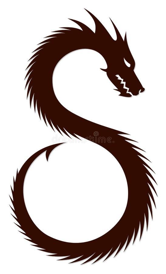 A Dragon Symbol. stock illustration