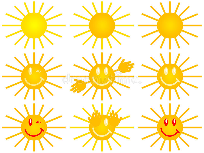Download Symbol of the sun stock illustration. Image of disc, happy - 21816814