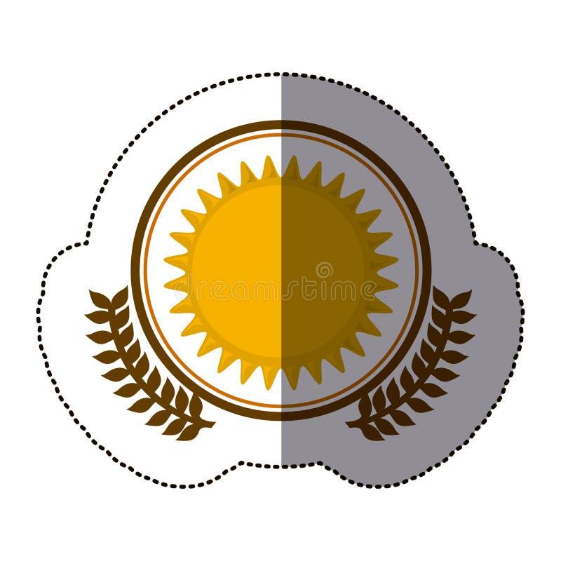 Symbol sun icon image. Design, illustration stock illustration