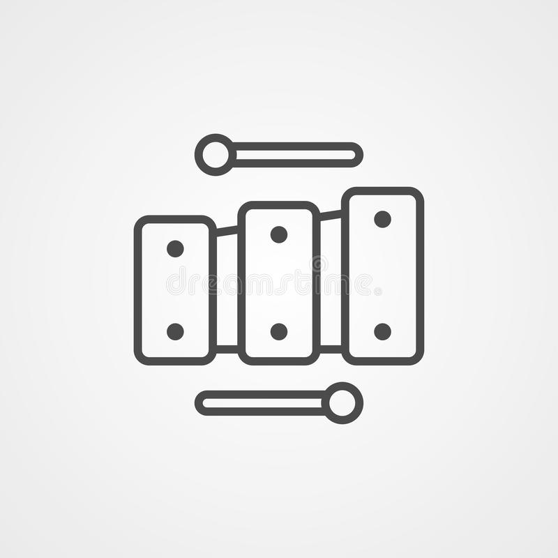 Symbol symbolu ikony wektora ksylofonu ilustracji