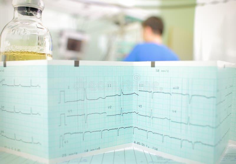 Symbol szpitalna obserwacja i opieka nad pacjentem fotografia stock