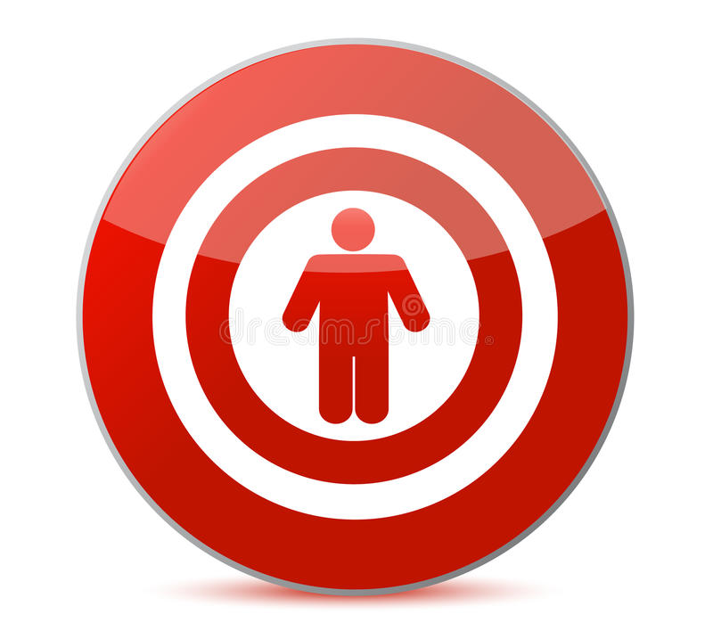 Symbol for a Targeted Person. stock illustration