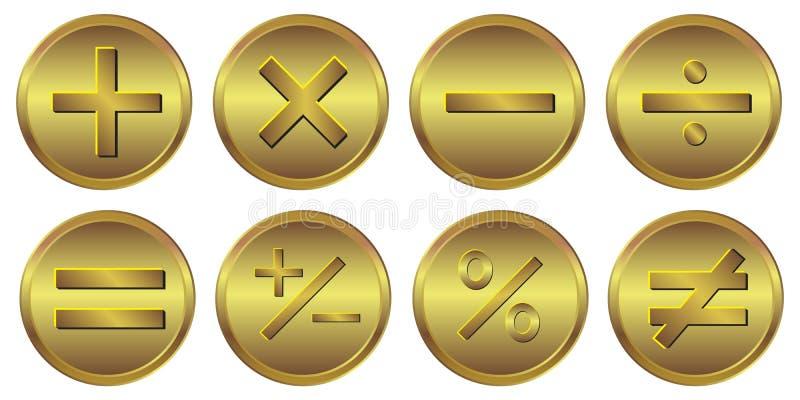 8 Symbol Taschenrechner-Goldikone vektor abbildung