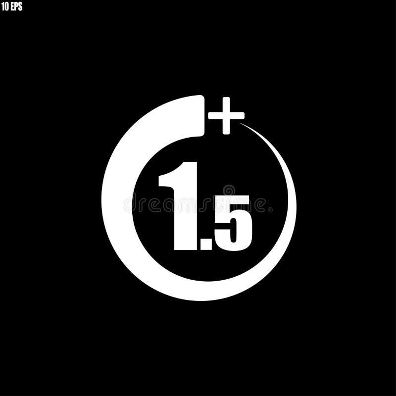 1 5+ symbol, tecken Informationssymbol f?r ?ldersgr?nsen - vektorillustration stock illustrationer