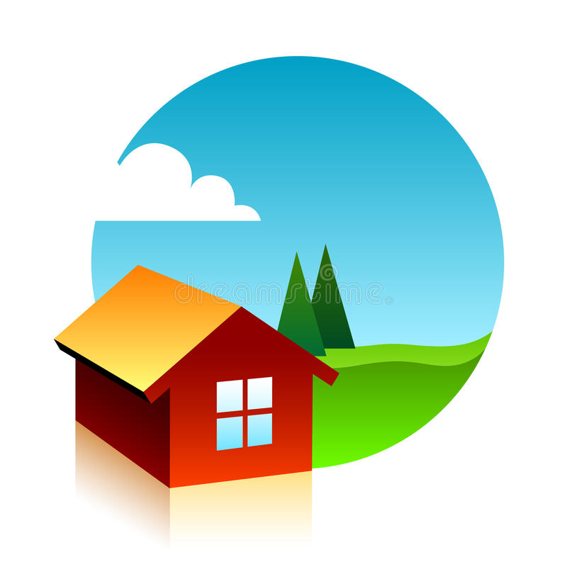Symbol Of Three Houses Stock Photography