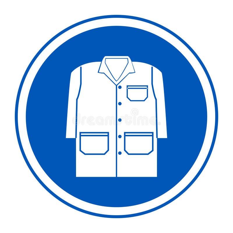 Symbol tragen ein Kleiderisolat auf weißem Hintergrund, Vektor-Illustration ENV 10 lizenzfreie abbildung